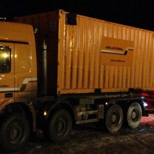 Frakt av containere