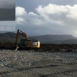 Oppstart med rensk av berg på land og installering av turbiditetsmålere