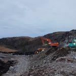 Steinuttak øverst i Einarsdalen