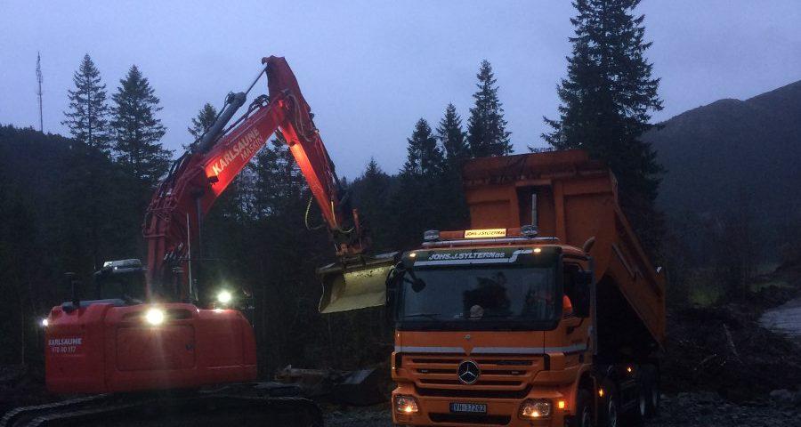 Bygging anleggsveg