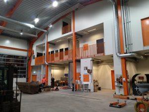 Fra vårt nye verkstedbygg