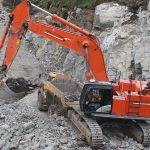 Lasting av stein for ny vei