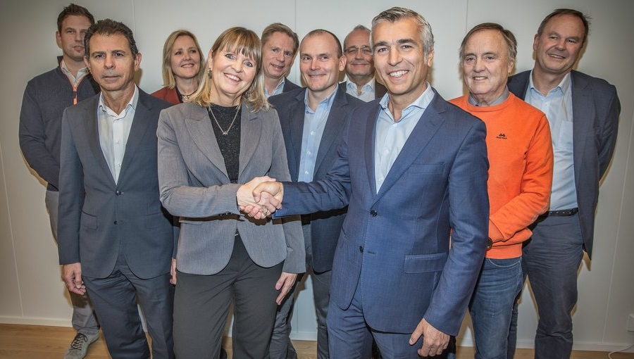 Fra kontraktsmøtet. Foto: Øyvind Nordahl Næss, Nye Veier